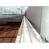aplicação de impermeabilização calha concreto Taquari