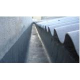 impermeabilização de calha feita de concreto Tupandi