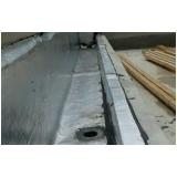 impermeabilização em calha de concreto