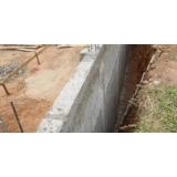 impermeabilização muro enterrado General Câmara